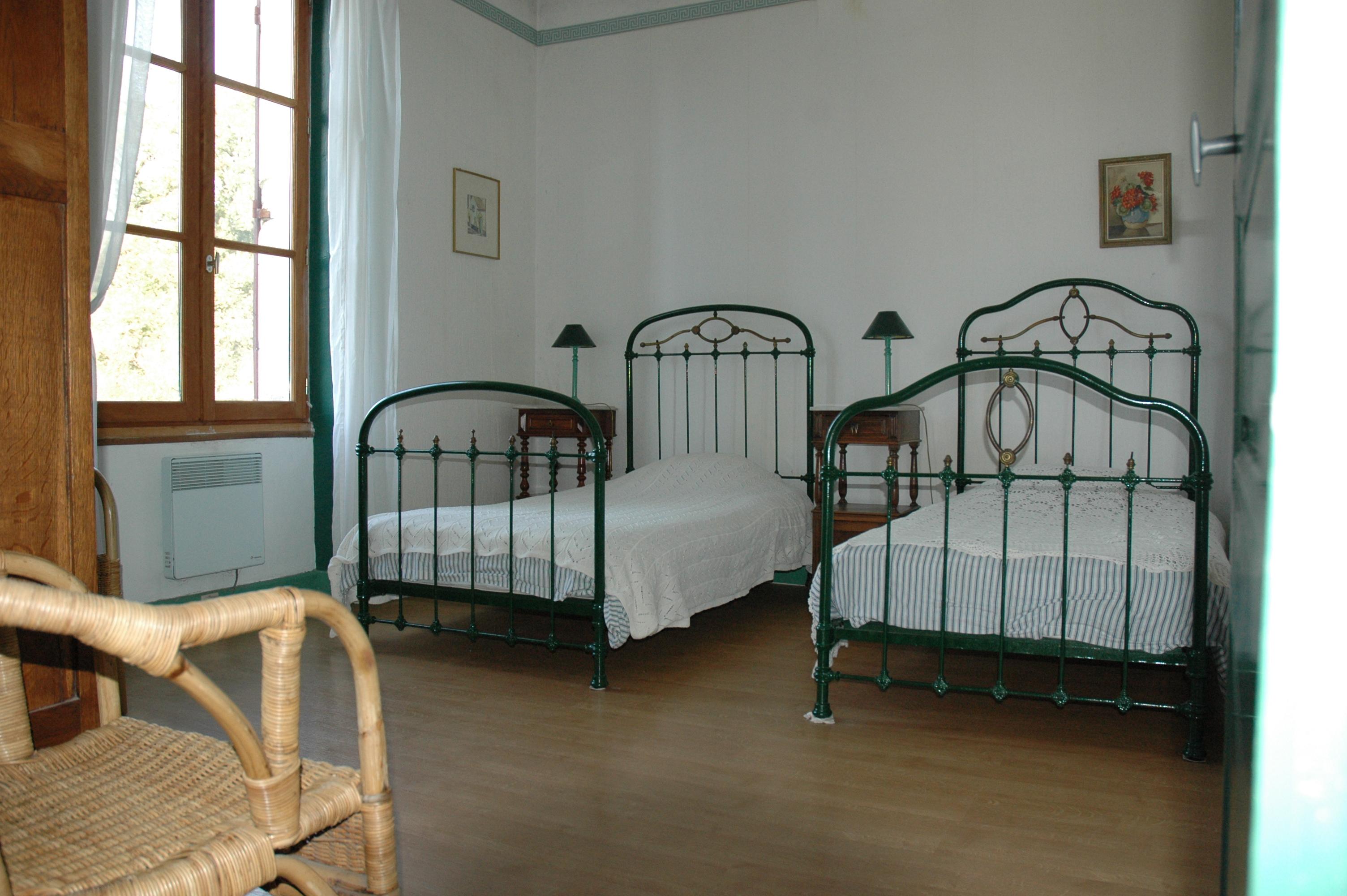 groene slaapkamer - Vakantiehuis Gare Blond-Berneuil in de Limousin ...